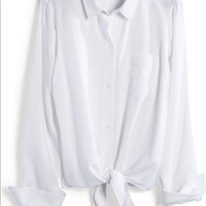 Madewell Tops - Madewell Tie Front Shirt
